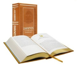 Embossed collector edition of Dianetics.