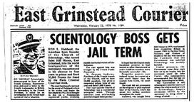 Criminal conviction of founder L. Ron Hubbard.